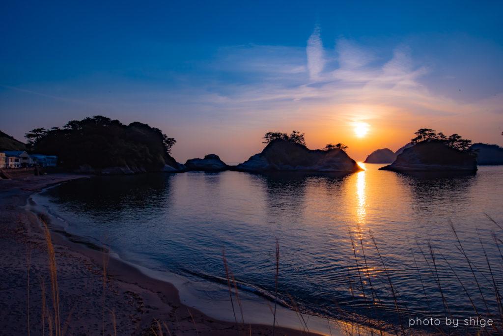 堂ヶ島 夕陽