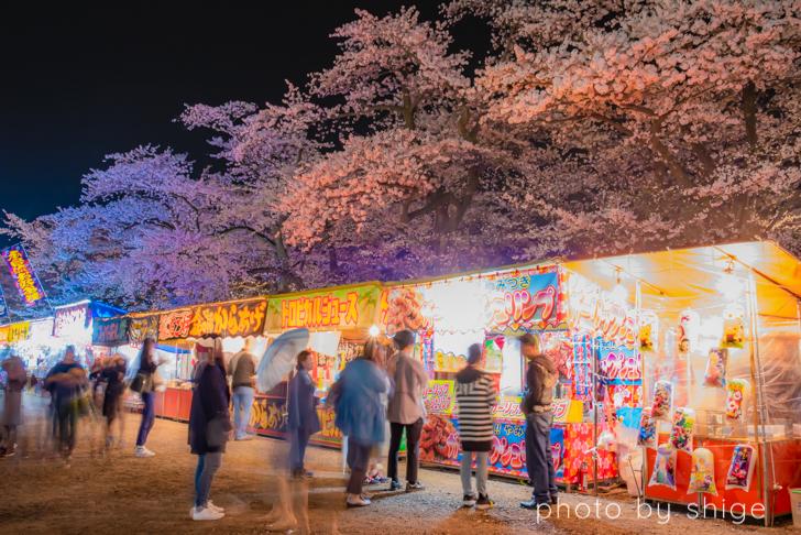 角館の桜まつりの出店